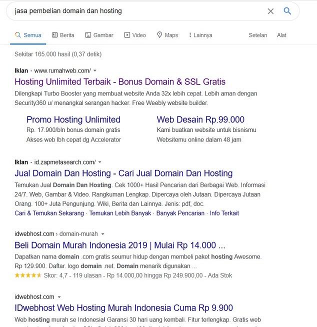Cara Mebeli Domain dan Hosting