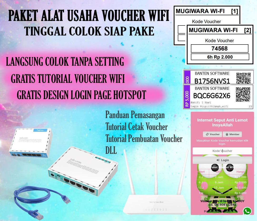 Paket jasa pemasangan voucher wifi