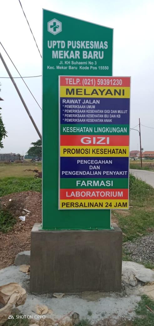 Jasa Pembuatan Neon Box Puskesmas Serang Cilegon Pandeglang Lebak Tangerang